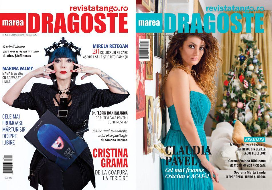 coperte Marea Dragoste-RevistaTango, nr. 125_decembrie 2016-ianuarie 2017_Cristina Grama_Claudia Pavel