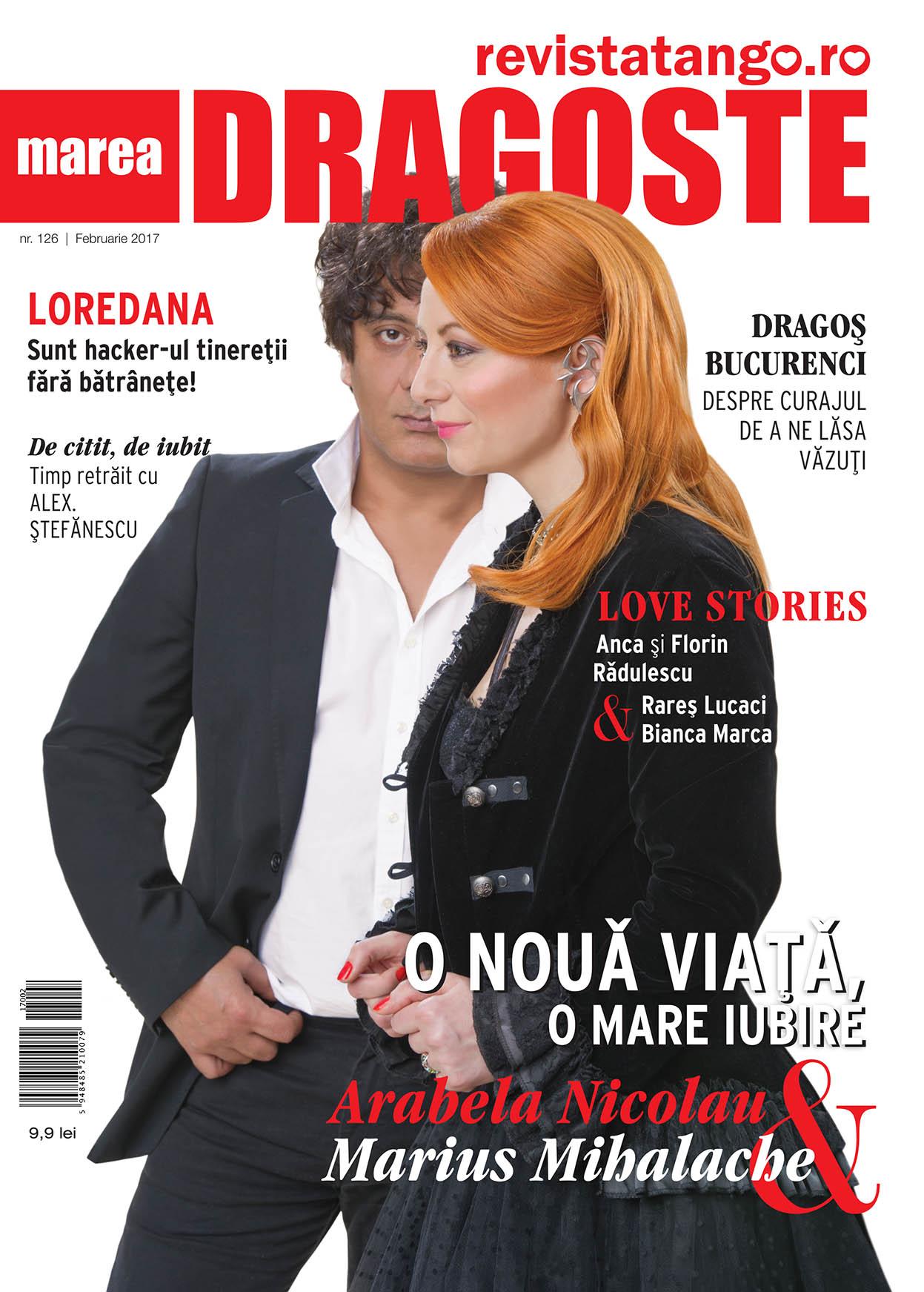 Arabela Nicolau si Marius Mihalache pe coperta Marea Dragoste-revistatango.ro, nr. 126, februarie 2017