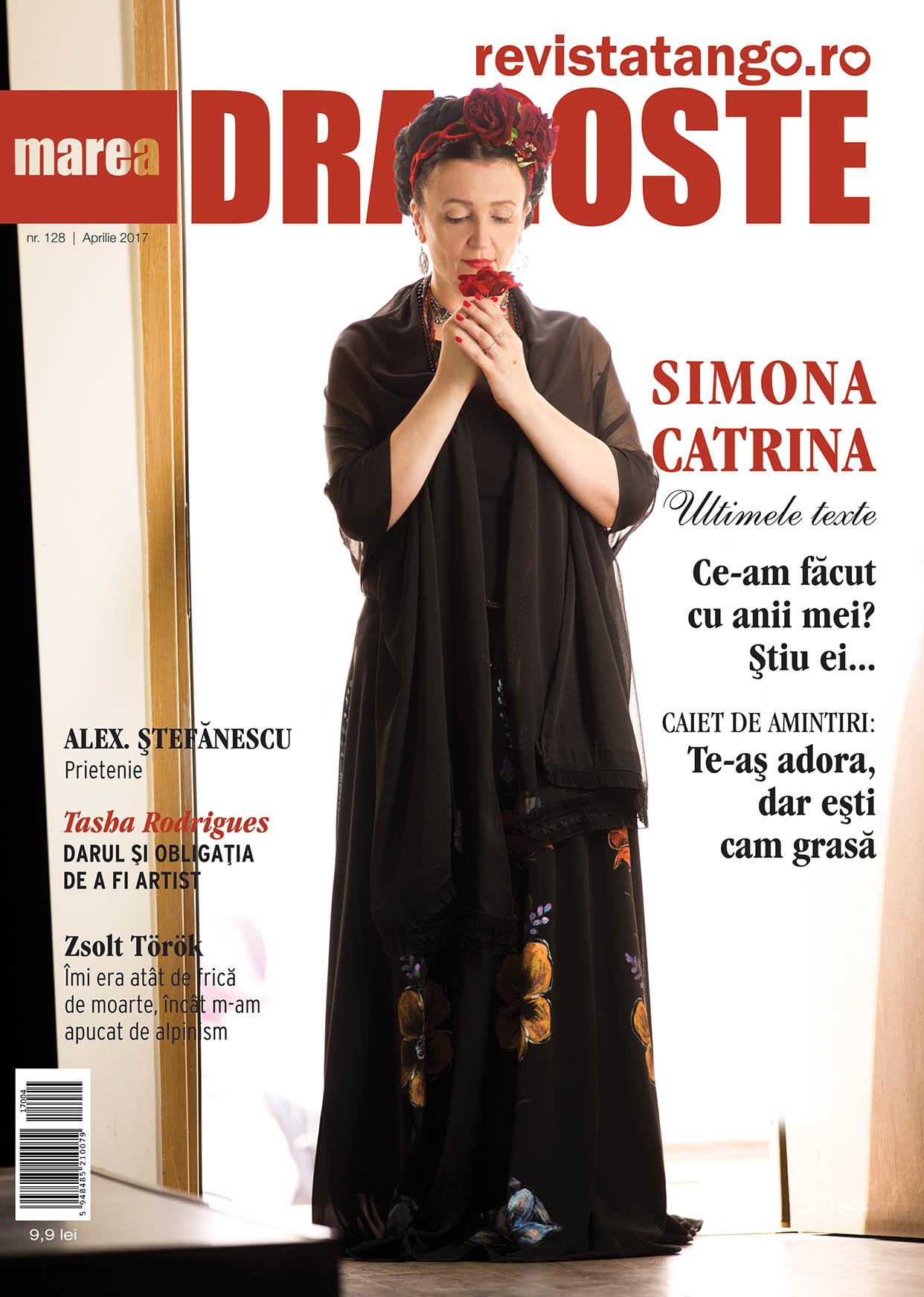 Simona Catrina pe coperta Marea Dragoste-revistatango.ro, nr. 128, aprilie 2017