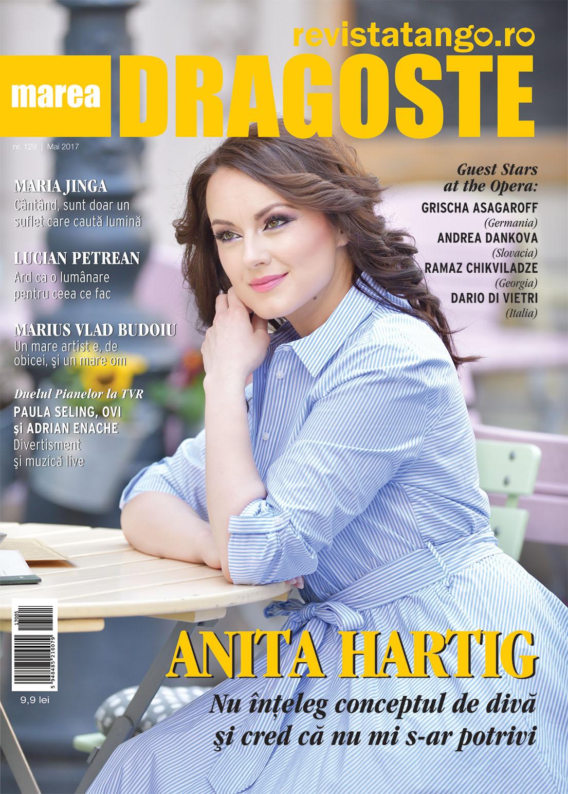 Anita Hartig pe coperta Marea Dragoste-revistatango.ro, nr. 129, mai 2017