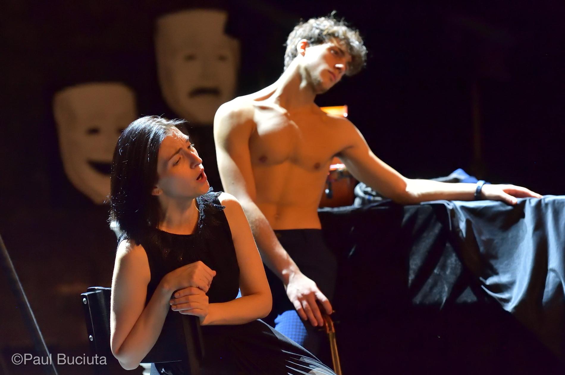 """Repetitii pentru spectacolul de balet """"TragiComedy"""", realizat de Gigi Caciuleanu la Opera Nationala Bucuresti, în parteneriat cu """"Gigi Caciuleanu Romania Dance Company"""""""