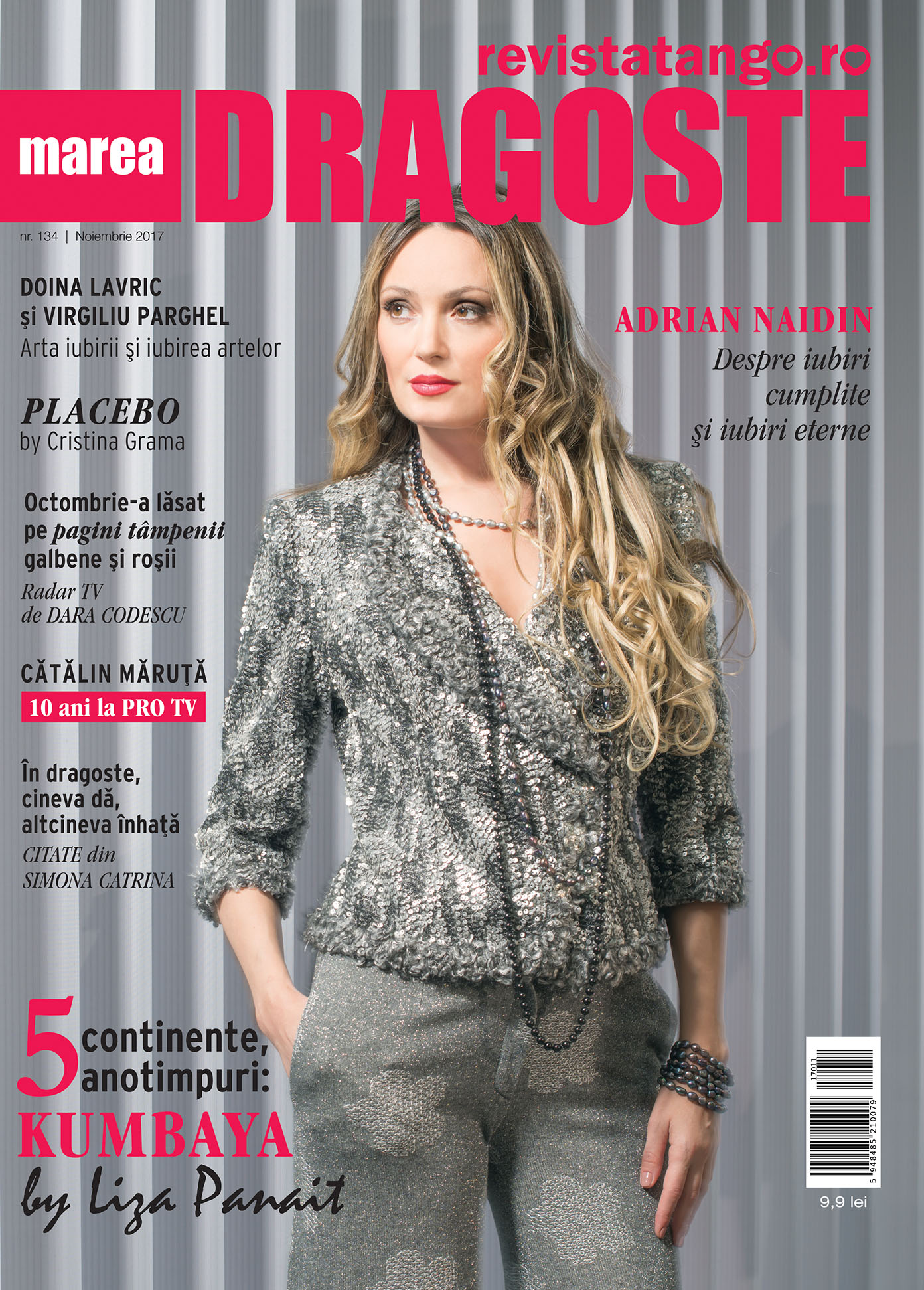 Coperta Marea Dragoste-revistatango.ro, nr. 134, noiembrie 2017