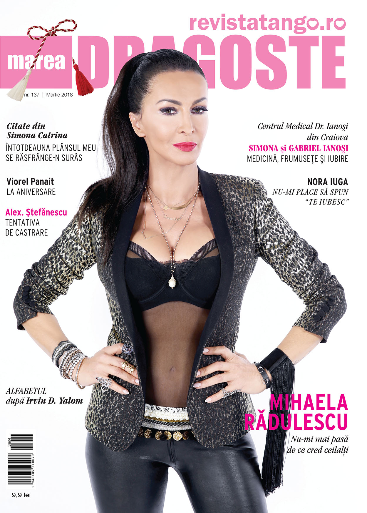 Mihaela Radulescu pe coperta Marea Dragoste-revistatango.ro, nr. 137, martie 2018