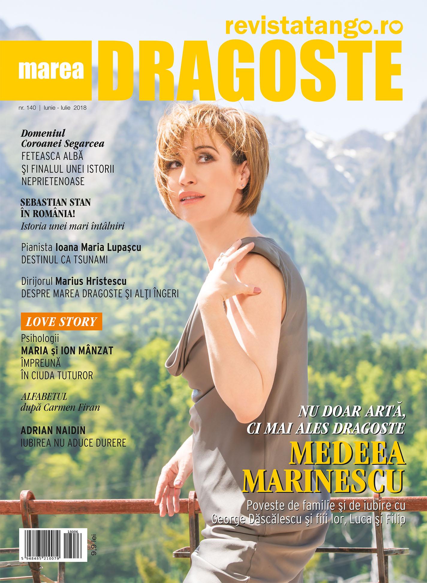 Medeea Marinescu pe coperta Marea Dragoste-revistatango.ro, nr. 140, iunie-iulie 2018